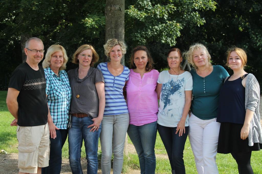 v.l.n. Uwe Knapps, Gundula Sommer, Nora Negele, Nadine Schindler, Anna Knapps, Heidrun Aschenbrenner, Erika Brinkmann & Talisa Gurris